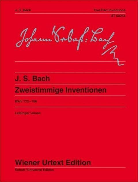 Zweistimmige Inventionen BWV 772-786, Klavier - Bach, Johann Sebastian Leisinger, Ulrich