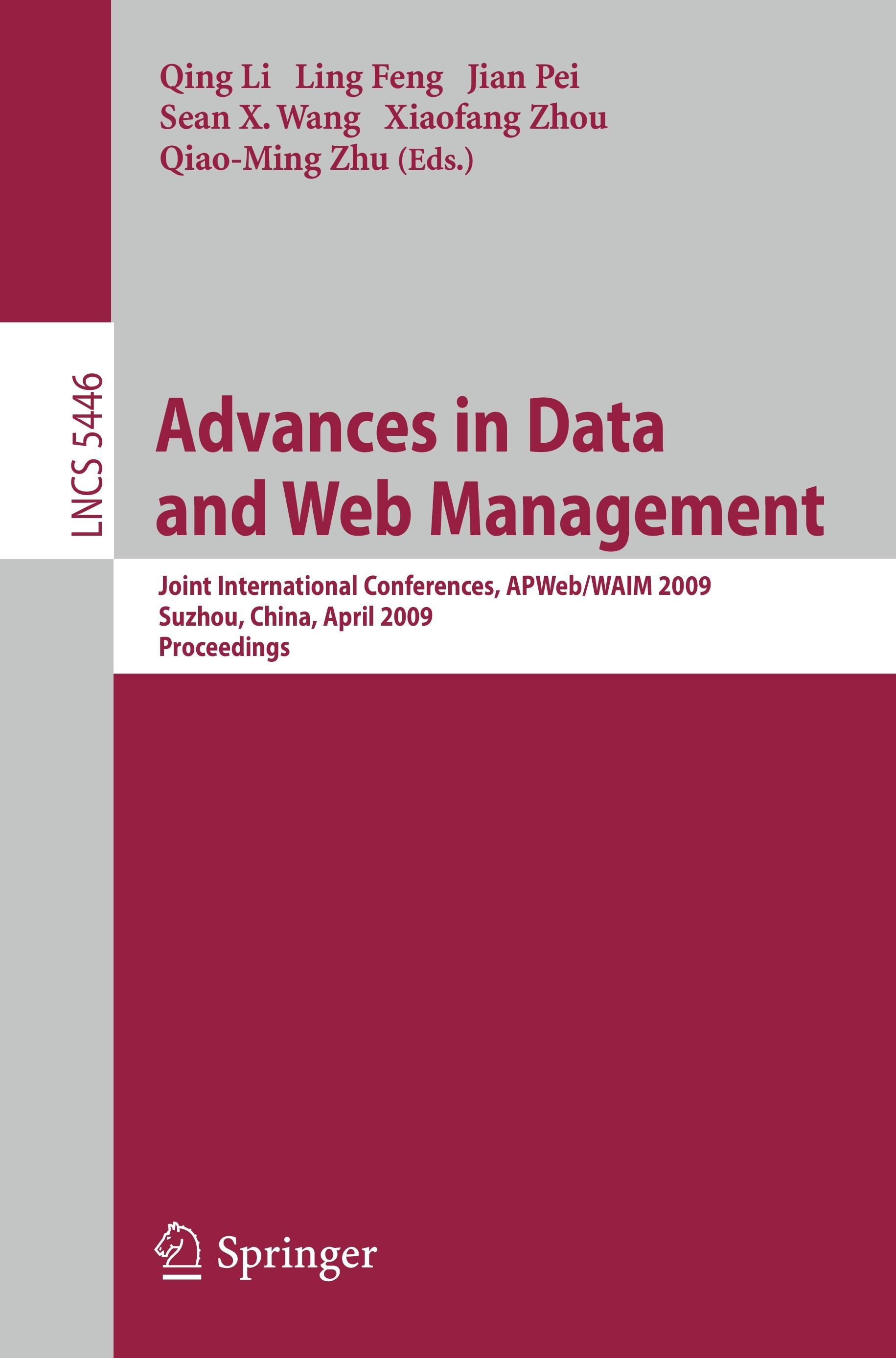 Advances in Data and Web Management  Lecture Notes in Computer Science