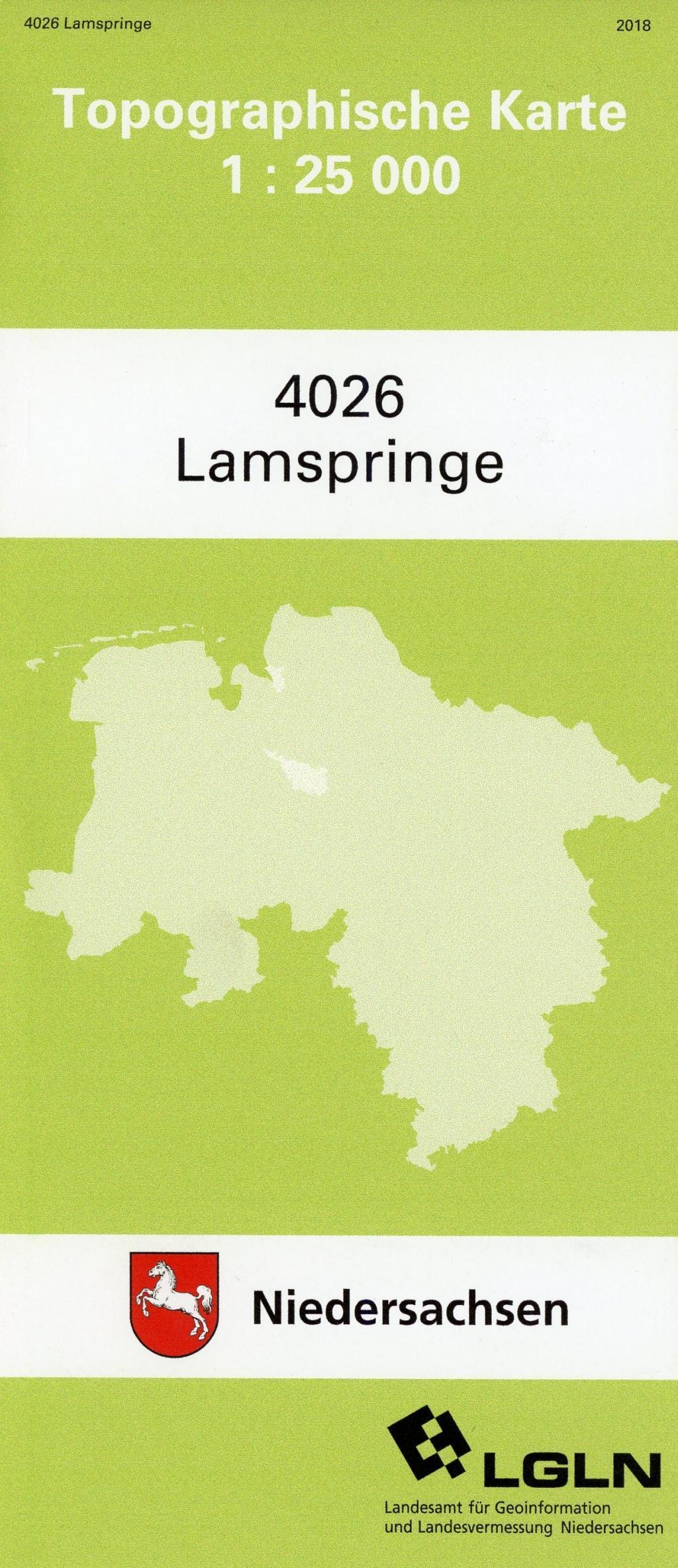 Lamspringe 1 : 25 000. (TK 4026/N)