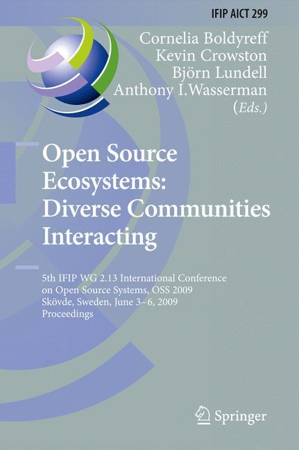 Open Source Ecosystems: Diverse Communities Interacting  IFIP Advances in Info..
