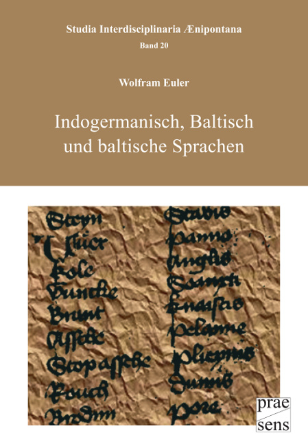 Indogermanisch, Baltisch und baltische Sprachen Euler, Wolfram Studia Interdis..