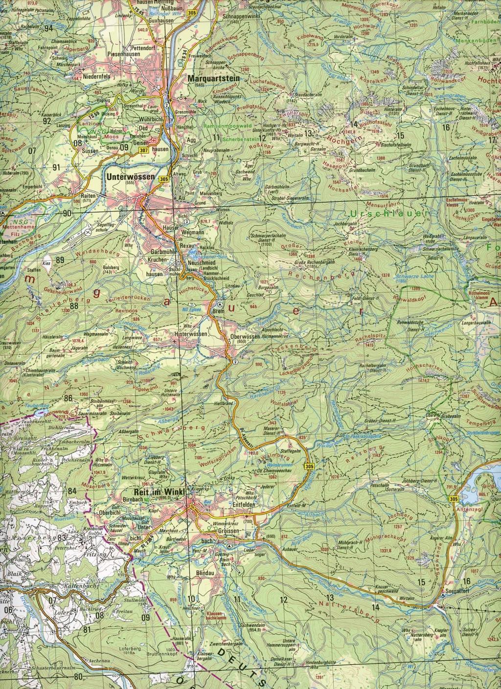 Ruhpolding 1 : 50 000. Normalausgabe  Topographische Karten Bayern 1 : 50 000