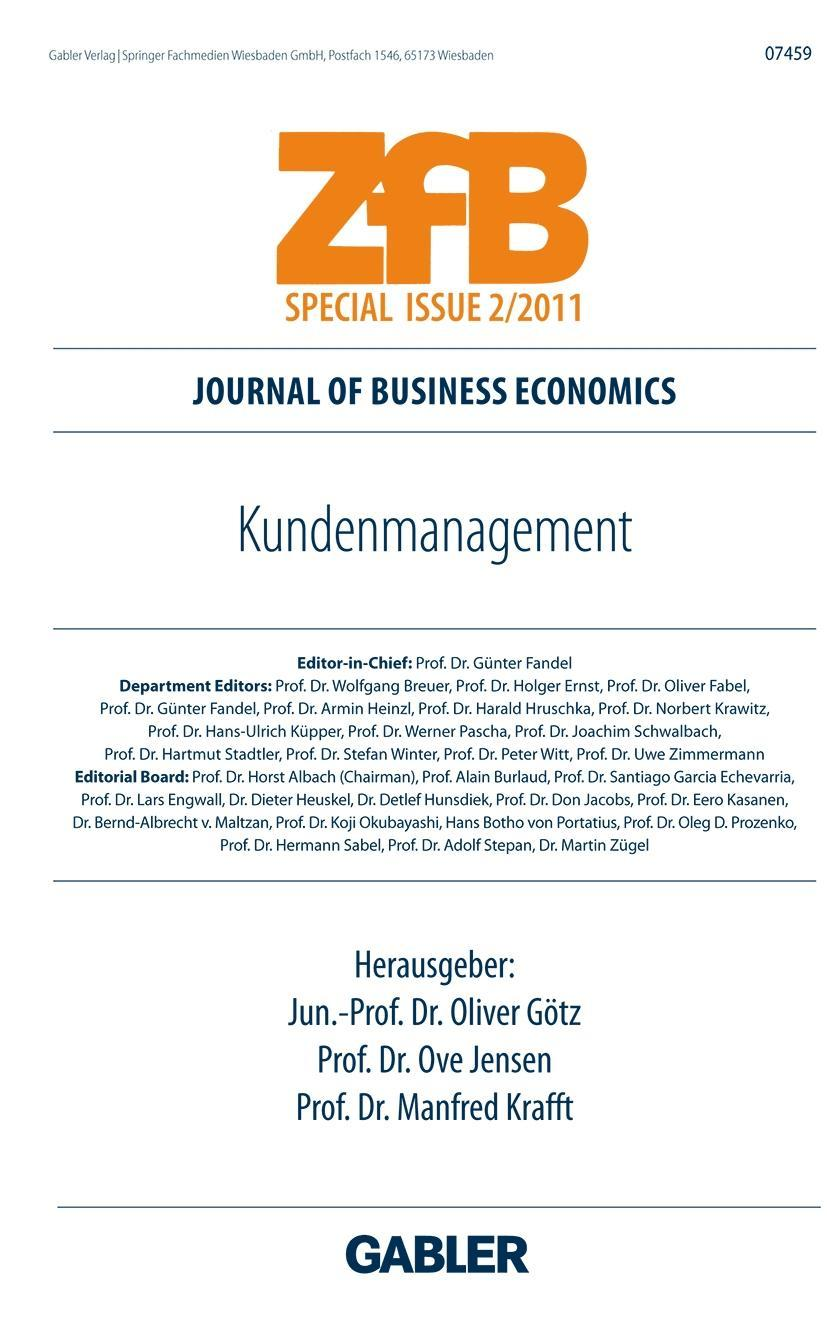 Kundenmanagement  ZfB Special Issue
