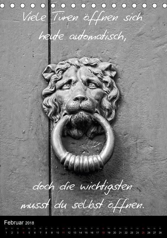 Kalender 2018 Din A5 Kluge Spruche In Schwarz Weiss Hochformat