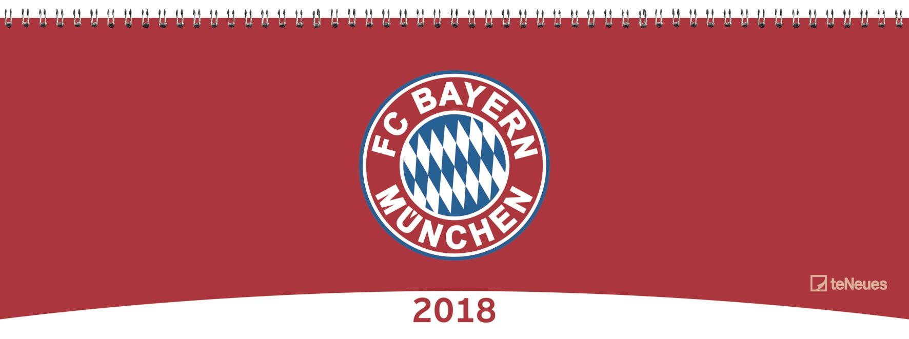 kalender 2018 fc bayern m nchen tischquerkalender 2018 fc bayern m nchen kalen ebay. Black Bedroom Furniture Sets. Home Design Ideas