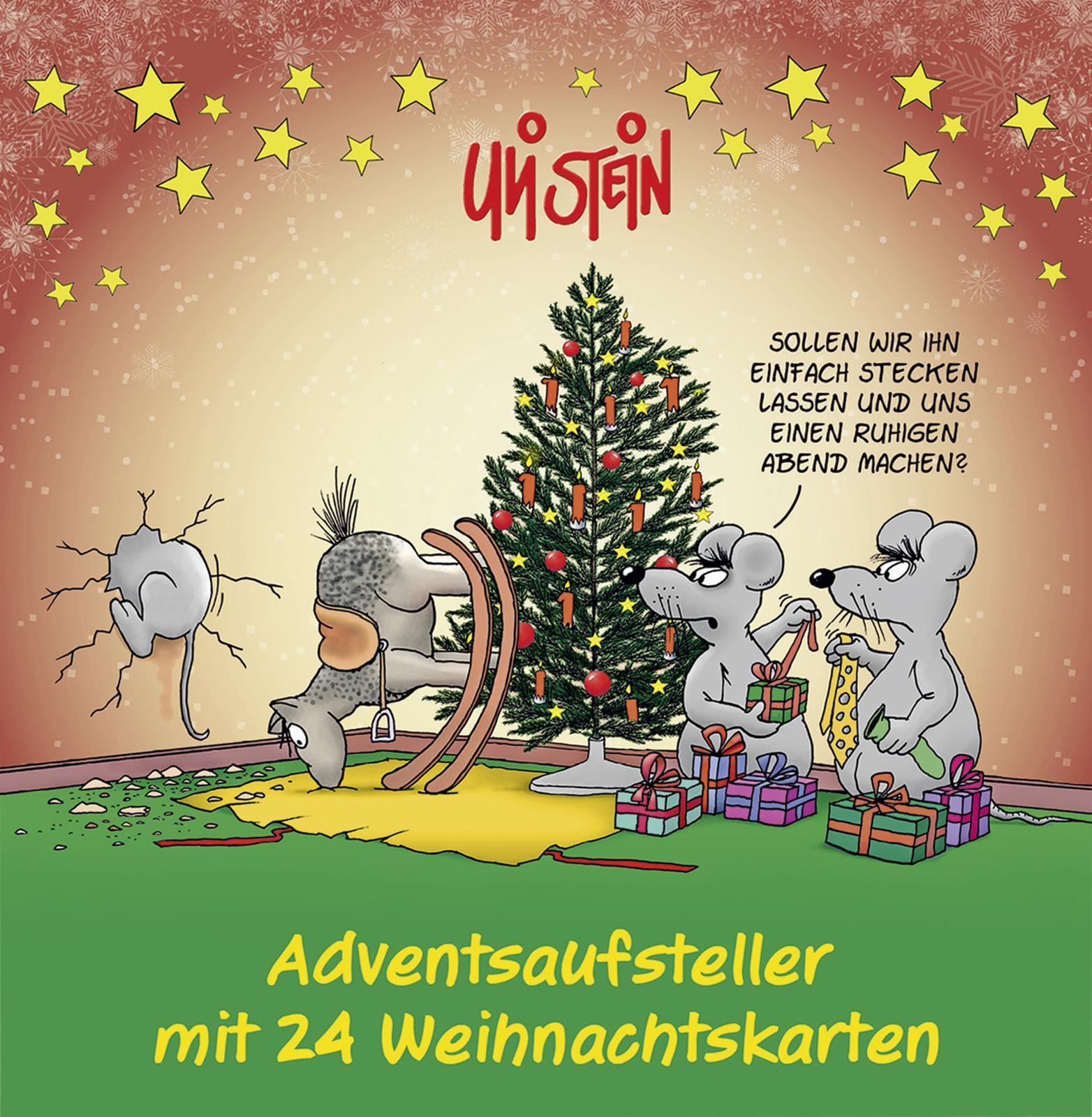 Kalender Adventsaufsteller mit 24 Weihnachtskarten Comic Theorie ...