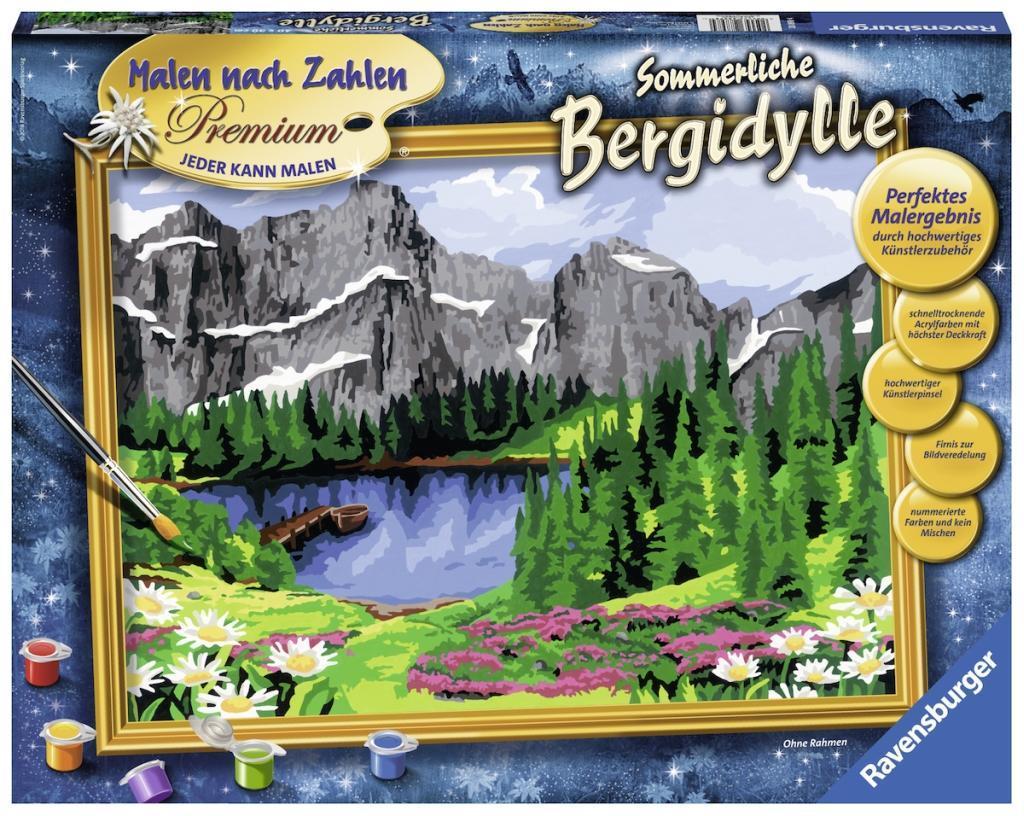 Sommerliche Bergidylle Malen nach Zahlen Serie Premium Ohne Rahmen ...