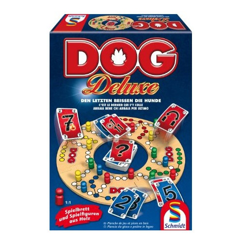 Schmidt Black Dog Kartenspiel Brettspiel Gesellschaftsspiel 2 bis 4 Spieler