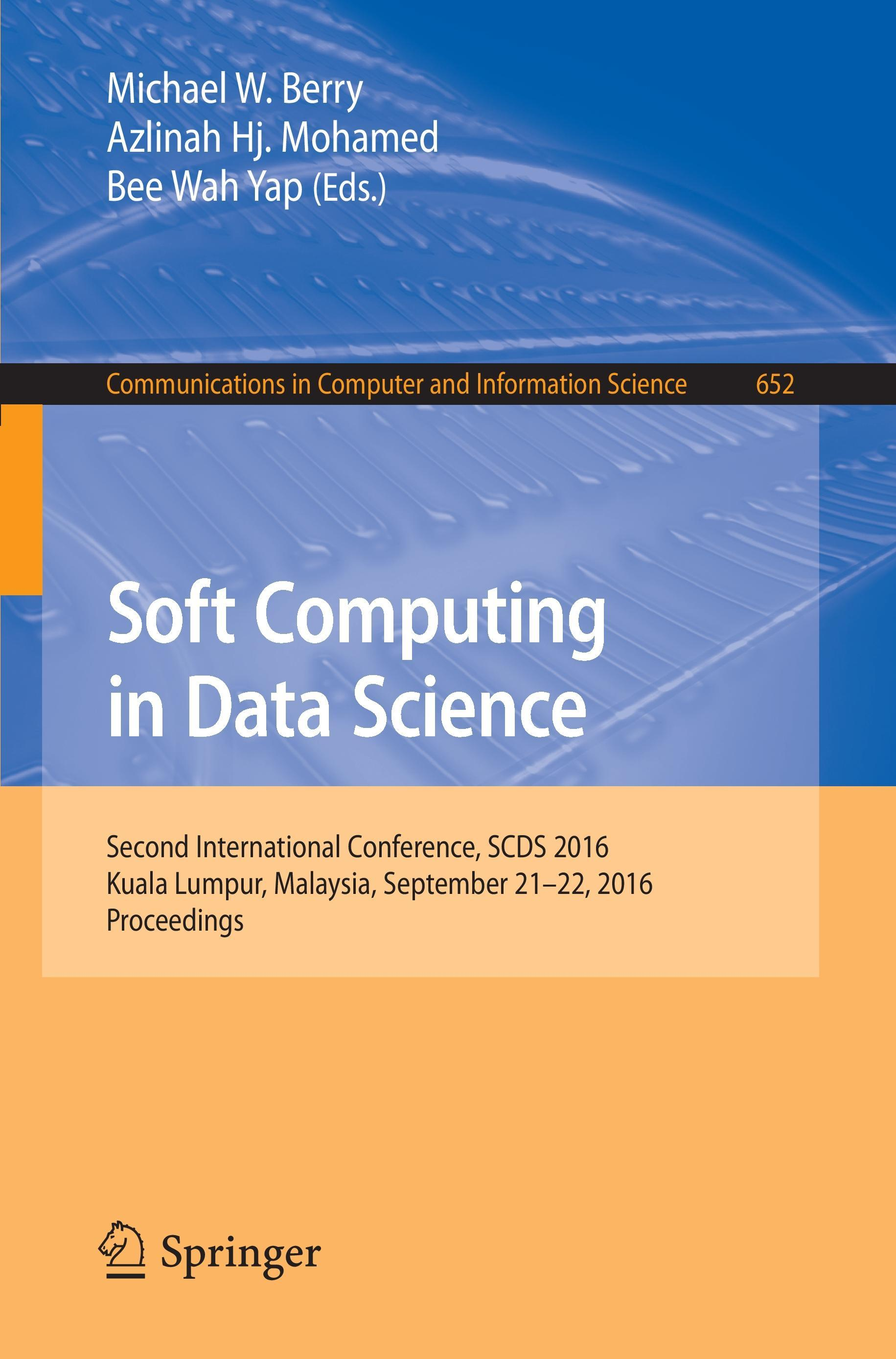 Soft Computing in Data Science  Communications in Computer and Information Sci..