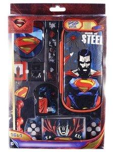 Zubehör-Set 16in1 für Sony PSP PS Vita Superman - Man of Steel