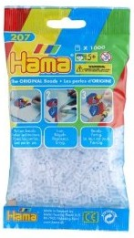 Hama 207-19 - Perlen transparent weiß, 1000 Stück
