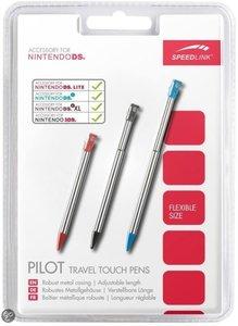 Pilot Travel Touch Pens (schwarz/rot/blau) für Nintendo DS