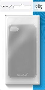 CELLUX TPU Back Case - iPhone 4/4S, frosted-black