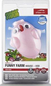 FUNNY FARM Mouse USB, FOR KIDS, 3-Tasten-Maus, pig