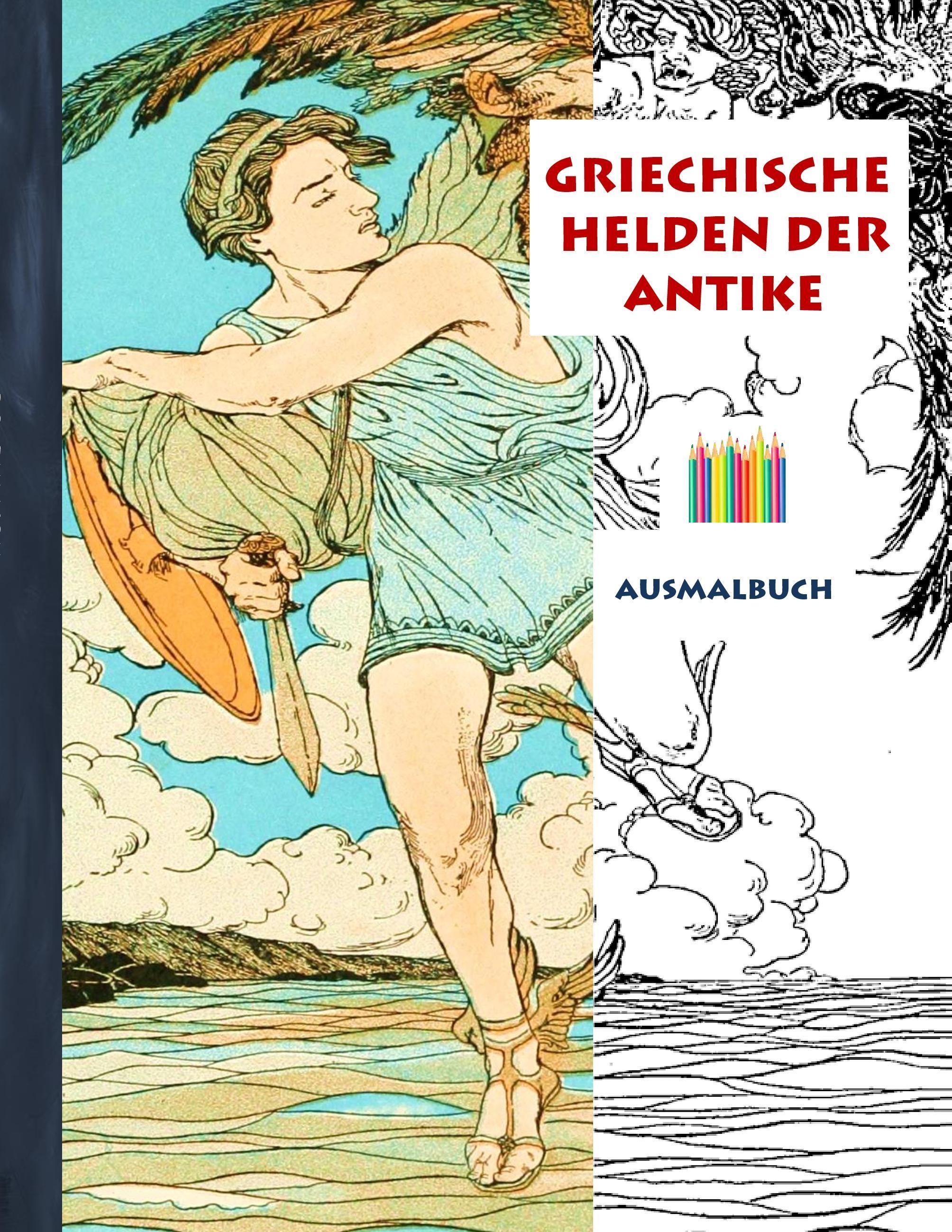 Griechische Helden der Antike (Ausmalbuch)