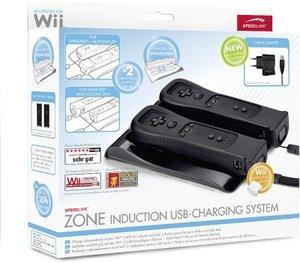 ZONE Ladestation für Wiimotes(R) - Induction USB-Charging System, schwarz
