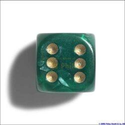 Philos 7101 - Würfel, 12 mm pearl grün, 36er Brick