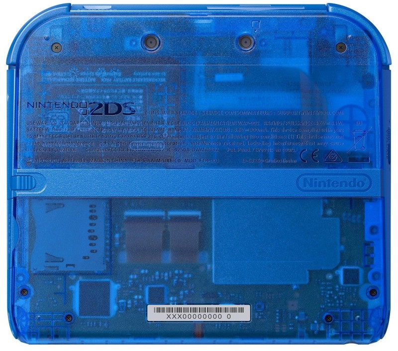 Nintendo 2DS - Konsole - Blau Transparent inklusive  Pokémon Bla