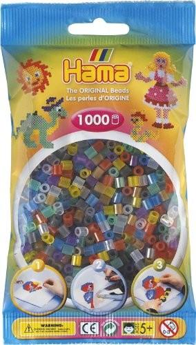 Hama 207-53 - Perlen, transparent gemischt, 1000 Stück