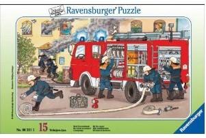 Mein Feuerwehrauto. Puzzle mit 15 Teilen