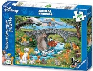 Die Familie der Animal Friends. Puzzle 100 Teile XXL