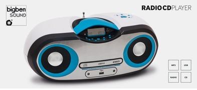 CD-Radio CD54, Top-Lader, weiss/blau