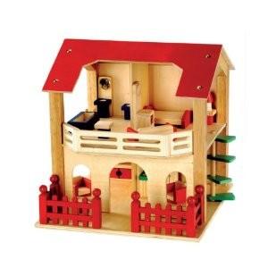 Bino 83550 - Puppenhaus, möbliert