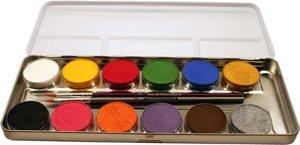 Corvus A190612 - Eulenspiegel: Schminke, 12 Farben inklusive  2 Pinsel
