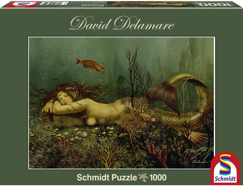 Schmidt Spiele 59750 - David Delamare: Meerjungfrau, 1.000 Teile
