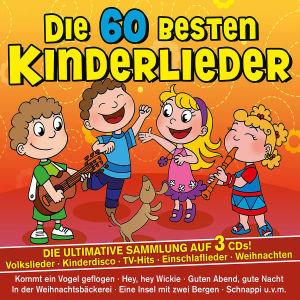 Die 60 besten Kinderlieder, 3 Audio-CDs