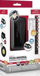 PECOS UNIVERSAL 72W Notebook Power Adapter-Car, Netzteil, glossy black