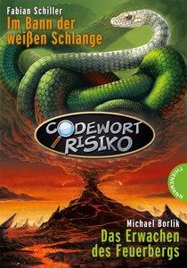 Codewort Risiko - Im Bann der weißen Schlange. Codewort Risiko - Das Erwachen des Feuerbergs