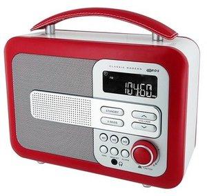 Tragbares Holzradio TR21 - rot