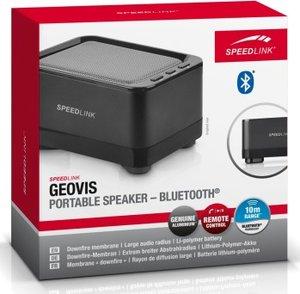 GEOVIS tragbarer Bluetooth-Lautsprecher (USB), schwarz/grau