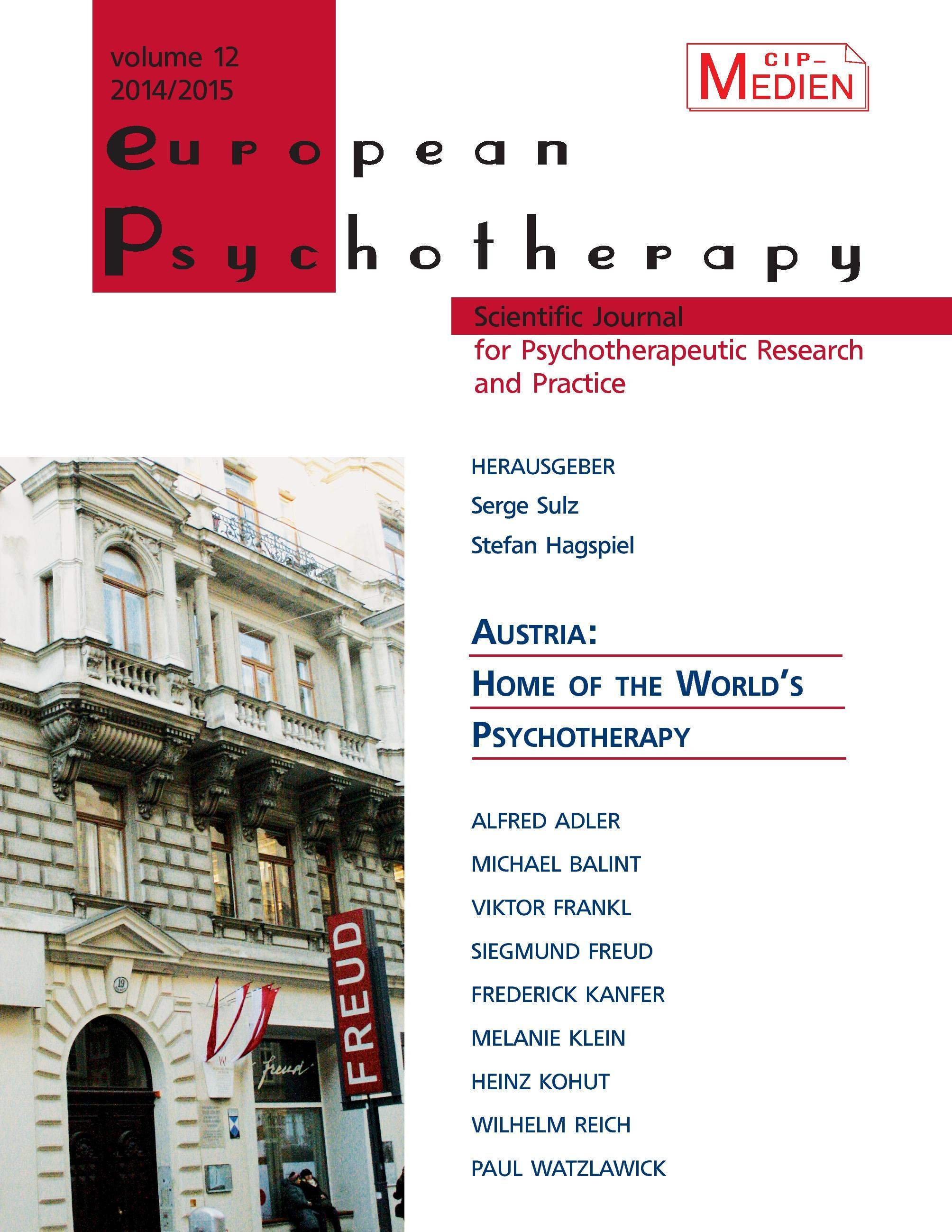 European Psychotherapy 2014/2015