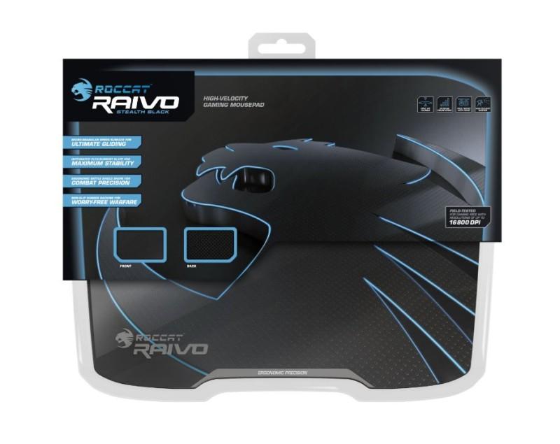 ROCCAT Raivo Stealth Black High-Velocity Gaming Mousepad