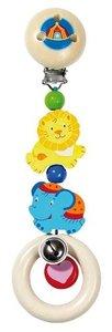 Goki 735700 - Clip Zirkus, Kinderwagenclip, Holz