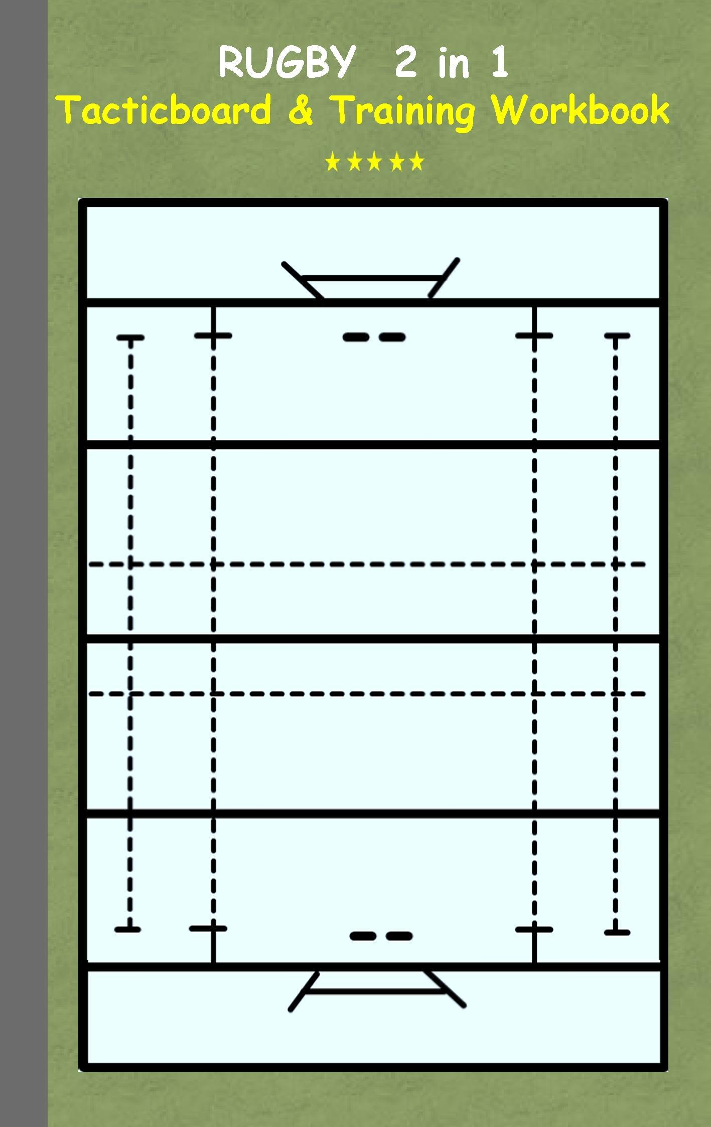 Rugby: 2 in 1 note- and tactic book with dry erase panel in comp