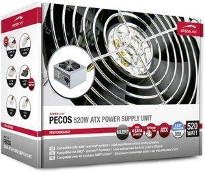 PECOS 520W ATX Power Supply Unit, Netzteil mit Lüfter