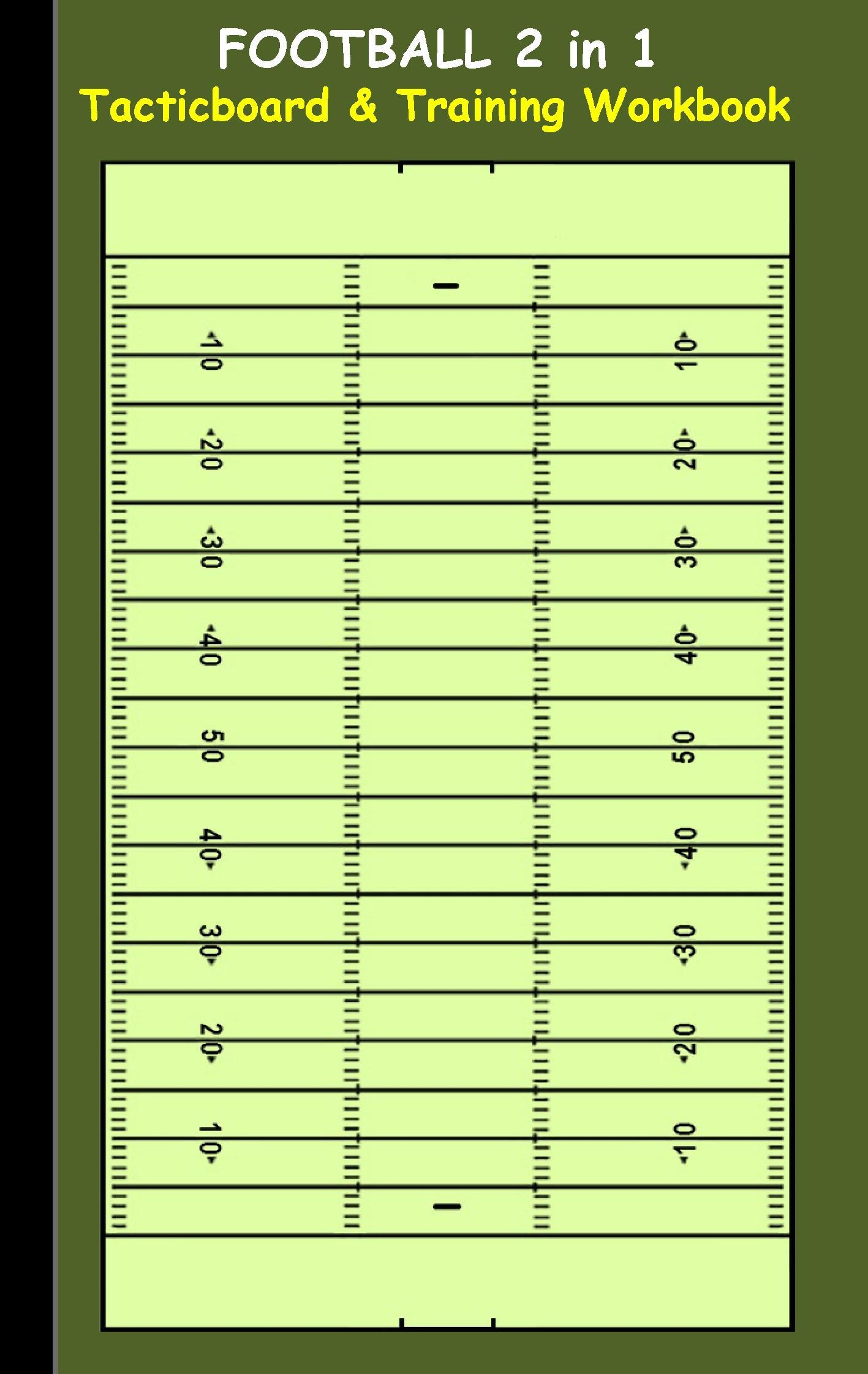 Football: 2 in 1 note- and tactic book with dry erase panel in c