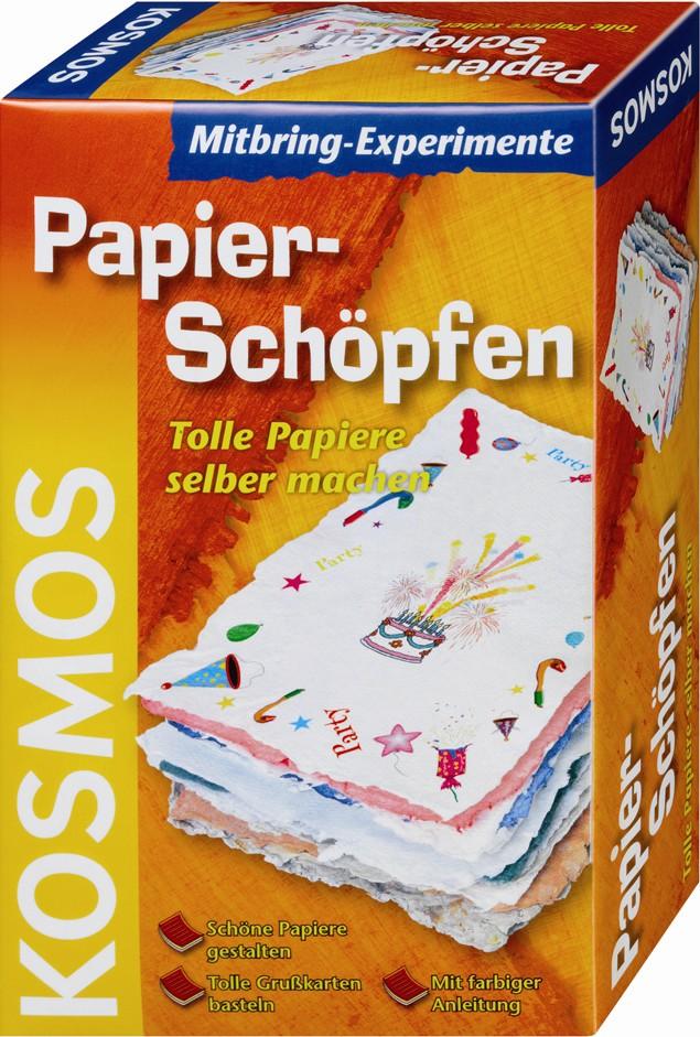 Kosmos 65906 - Mitbring-Experimente: Papierschöpfen