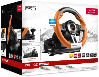 Speedlink DRIFT O.Z. Racing Wheel/Lenkrad SL-4495-BKOR - black-o