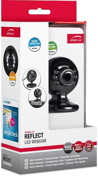Speedlink REFLECT LED Webcam, schwarz