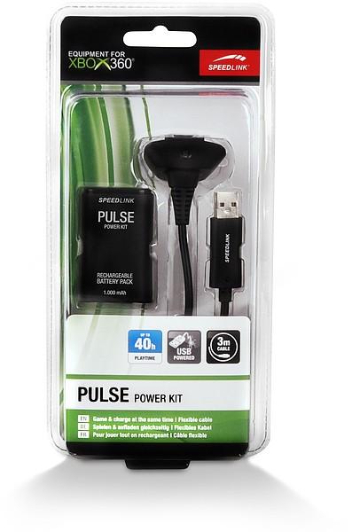 Speedlink PULSE Power Kit - Akku und Ladekabel für Xbox-360®-Gam