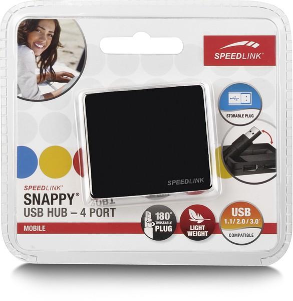 Speedlink SNAPPY USB Hub - 4 Port, schwarz