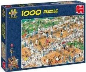 Jumbo 17076 - Der Tennisplatz, 1000 Teile Puzzle