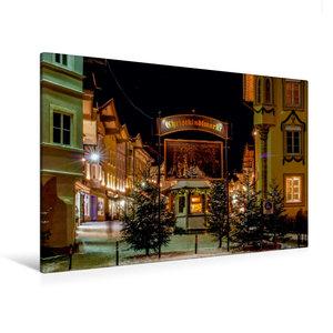 Premium Textil-Leinwand 120 cm x 80 cm quer Eingang zum Weihnach