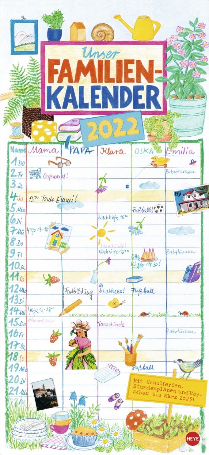 Gabi Kohwagner Unser Familienkalender 2022