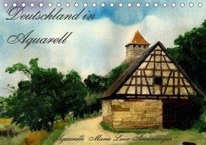 Deutschland in Aquarell (Tischkalender 2021 DIN A5 quer)