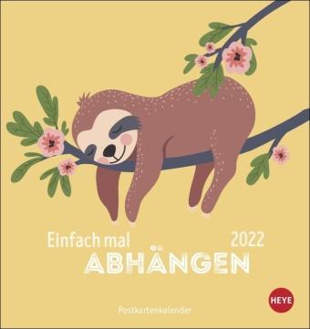 Faultier Postkartenkalender 2022